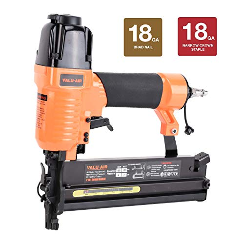 Valu-Air SF5040 2' 18 Gauge 2 in 1 Brad Nailer and Stapler with Carrying...