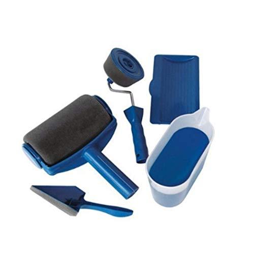 Mymotto - Kit rullo per pittura, pennello piatto Paint Roller per livellare pareti di casa e giardino