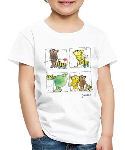 Janosch Bär Tiger Günter Und Tigerente Kinder Premium T-Shirt, 122-128, Weiß