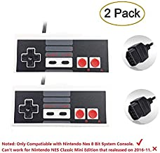 2-Pack NES Controller for Nintendo NES 8 Bit Entertainment System Console Control Pad Controllers