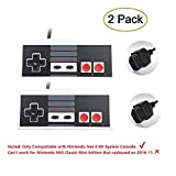2-Pack NES Controller for Nintendo NES 8 Bit Entertainment System Console Control Pad Replacement Controllers