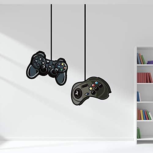 Adesivi murali WP77 con doppio controller di gioco