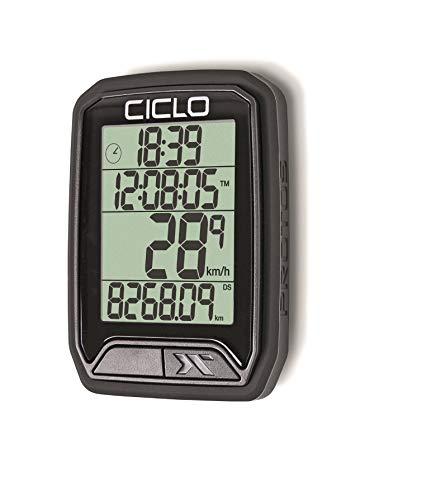 Ciclosport Ciclo PROTOS 113, Computer per Biciclette Unisex-Adult, Nero, normale
