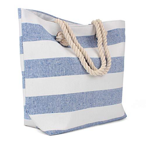 Tote Bag - Beach Bag - Beach Tote - Large Tote Bag with Rope Handles - Rutledge & King Edisto Designer Tote Bag - Polyester Linen Tote