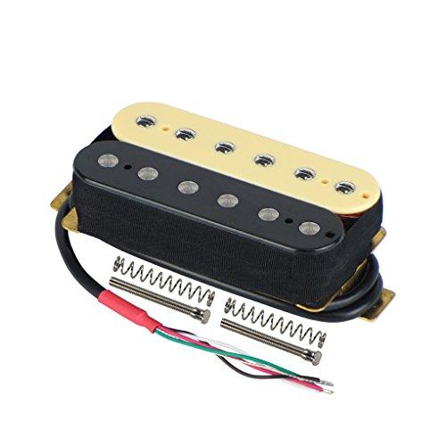 FLEOR Juego de mástil/puente (50 mm / 52 mm) Pastilla de guitarra Humbuckers de doble bobina Imán de cerámica para piezas de pastilla de guitarra eléctrica, Zebra