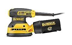 Szlifierka ekscentryczna DeWalt (z ssaniem, pułapką na kurz, pyłoszczelnym przełącznikiem i obudową skrzyni biegów - szlifierka o niskich wibracjach z mocnym silnikiem - 280W - 125mm) DWE6423