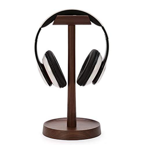 JUNJP Kopfhörerständerhalterung für Schreibtisch, Musikstudio-Displayzubehör, Gaming-Kopfhörer-Displayhalter aus Walnussholz, für Family Office Studio-Schlafzimmer