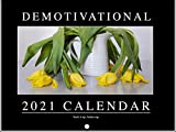 Demotivational Funny Motivational NoMonth Parody 2021 Wall Calendar 12 Month Monthly Full Color Thick Paper Pages Folded Ready to Hang 18x12 inch