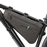 yiyitop Fahrradrahmen-Dreieck-Taschen Große Fahrrad Dreiecksack Fahrrad Rahmen Vordere Rohrbeutel wasserdichte Radtasche Werkzeugtasche Zubehör (Color : Waterproof XL)