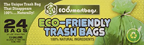 Ecosmartbags 13-Gallons 24 Ct Eco-Friendly Commercial Grade Trash Bags by Eco-Smartbags