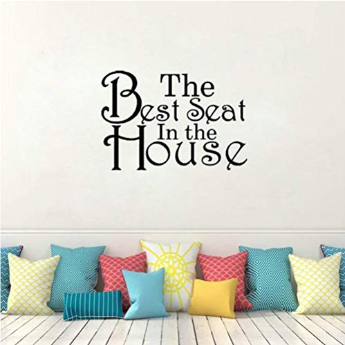Wall Sticker for Living Room Bedroom Decor Art Home Decoration The Best Seat in The House Removable PVC 42CMx28.6CM