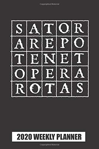 2020 Weekly Planner: Sator Square Word Rotas Palindrome: Portable Format
