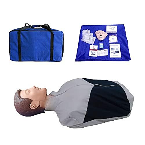 GoodWell CPR maniquí Entrenamiento para prácticas de Primeros Auxilios,Simulador De Reanimacion Cardiopulmonar RCP Modelo De Recuperación Medio Cuerpo para la enseñanza de la Ayuda