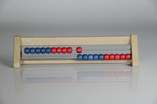 20`er Rechenrahmen blau-rot, Abakus, student`s abacus