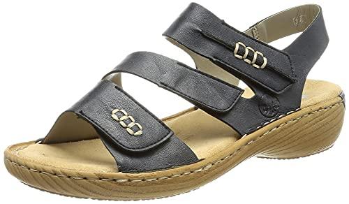 Rieker Damen V27Z0 Sandale, blau 15, 42 EU