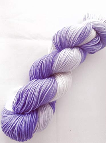 Sockenwolle handgefärbt 100 g ca 420 m 75% Wolle/25% Polyamid lila