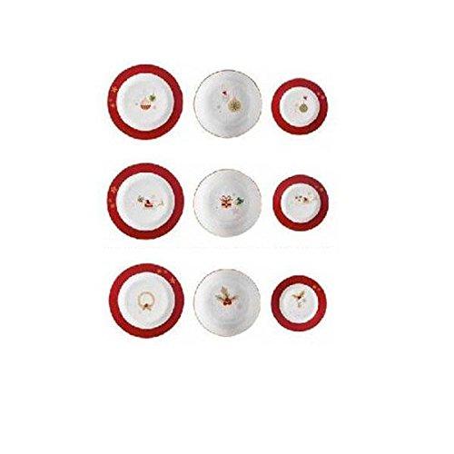 Brandani 53011Alleluia servizio di piatti in porcellana, multicolore