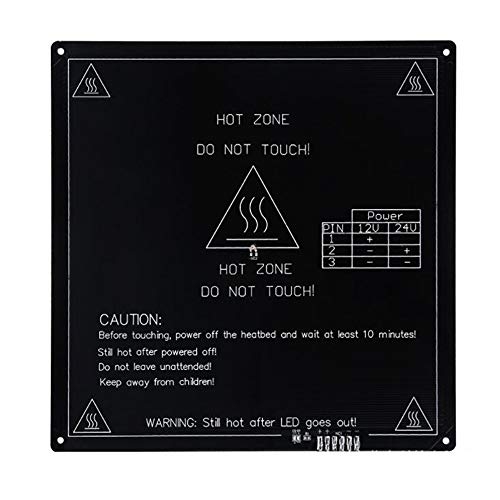 3D-Printeraccessoires Heat Bed Heatbed MK3 Standard Aluminium Plate 3mm 3D-printer Hot Bed for 3D-printer (Color : Black, Size : 420 * 420)