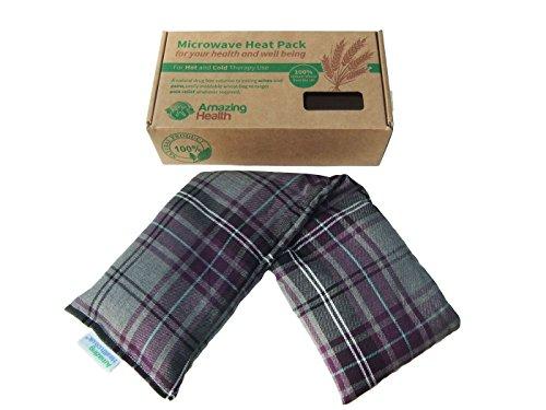 Funda de algodón osito de gel térmico diseño rockero a cuadros escoceses puede meter en el microondas de paja con una bolsa de regalos 46 cm de largo