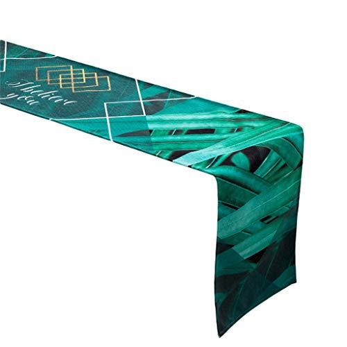 Mantel de tela de cuadros nórdicos con diseño de cuadros nórdicos para tv o café, toalla para cama, diseño de rayas europeas de 30 x 160 cm MXJ61 (diseño: B, tamaño: 30 x 180 cm)