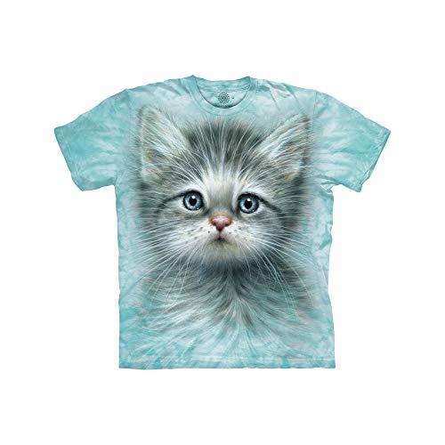 The Mountain Tee-Shirt Unisexe pour Enfant Motif Chaton aux Yeux Bleus - Bleu - Large