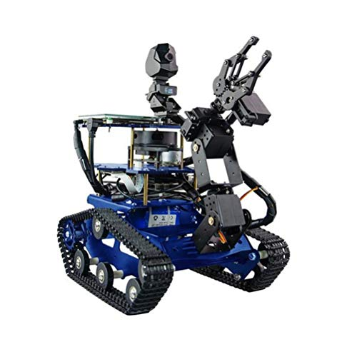 ZDSKSH Programmierbare Roboter Spielzeug, 4 DOF Mechanischer Arm, DIY Raspberry Pi Roboter, Roboter Bausatz mit 1080P HD Kamera, Baukasten elektronisches mit 7 Zoll Touchscreen
