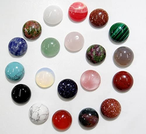 Sales of SALE items from new works FC-103197 50pcs 12mm Natural Stone Cabochons Round No Hole Quart Boston Mall