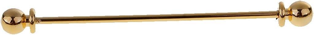 dailymall Men's Round Head Ball Collar Stay Pin 65mm Screw Tip Copper Wedding Tie Bar Gift