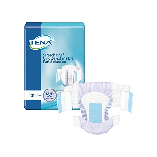 TENA Stretch Ultra Incontinence Brief M Breathable, 67802, 72 Ct