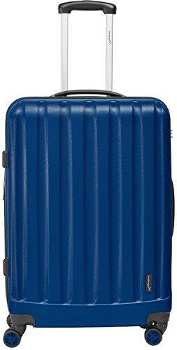 Packenger Koffer - Velvet (XL), Dunkelblau, 4 Doppelrollen, 112 Liter, 72cm, Koffer mit TSA-Schloss, Erweiterbarer Hartschalenkoffer (ABS) robuster Trolley...