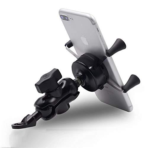 Universele fietshouder voor telefoon, motorfiets, telefoon, navigatieapparaat, USB-oplader met elektrische schakelaar voor auto, telefoon (1 stuk) voor fiets, motorfiets, mountainbike, fiets