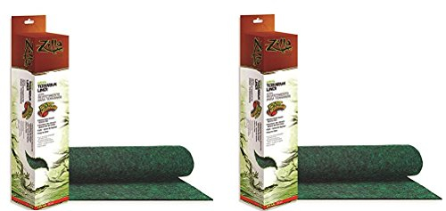 (2 Pack) Zilla Terrarium Liner, 125G, Green (17.25 x 71 Inches)