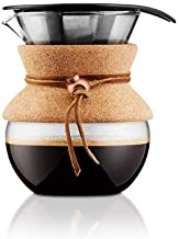 Bodum Pour Over Coffee Maker with Cork, 1L