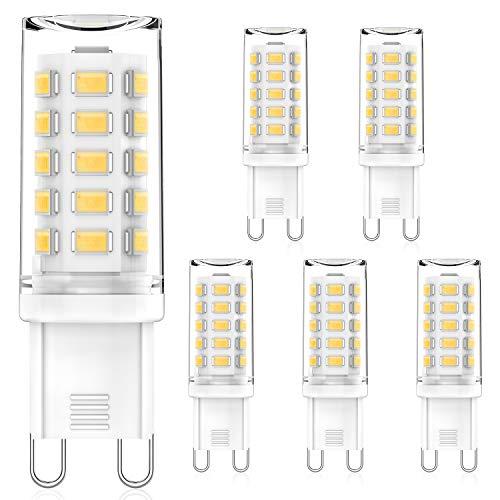 MLlichten G9 LED Ampoule Dimmable 4000K Blanc Naturel, 4W Équivalent 40W Halogène, Pas de Scintillement G9 Ampoule LED Lampe, AC220-240V Ampoules LED G9, Lot de 5