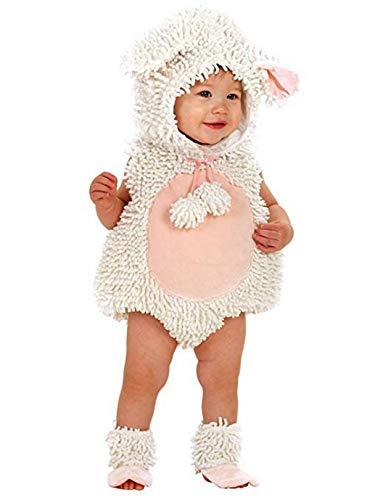 Princess Paradise Baby Girls' Premium Laura The Lamb, White/Pink, 18-24 Months