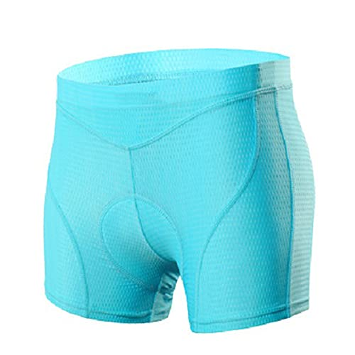 Ypnrd Radlerhose Damen Shorts Atmungsaktive Schnelltrocknende Unterhose Hotpants,Blau,M