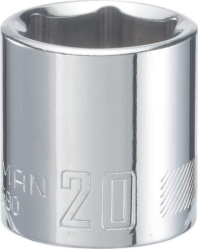 CRAFTSMAN Shallow Socket, Metric, 3/8-Inch Drive, 20mm, 6-Point (CMMT43580)