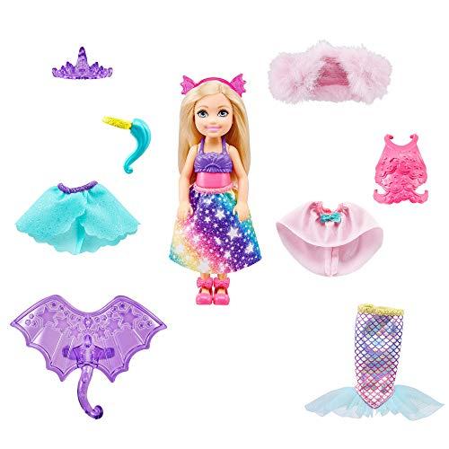 Barbie GTF40 - Dreamtopia Chelsea Meerjungfrau-Puppe Ankleideset mit 12modischen Teilen, Geschenk für Kinder von 3 bis 7 Jahren