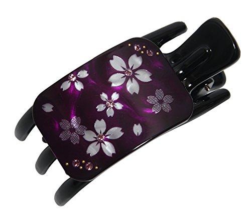 和柄 髪留め 片刃バンスクリップ 舞桜 紫