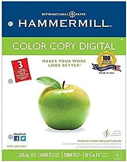 Hammermill Paper, Premium Color Copy Paper 8.5 x 11 Paper, Letter Size, 3 Hole, 28lb Paper, 100 Bright, 1 Ream / 500 Sheets (102500R) Acid Free Paper