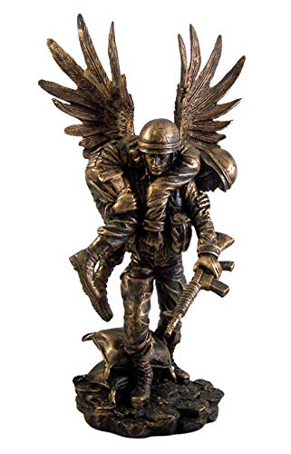 Needzo Wounded Warrior Fallen Soldier Angel Figurine, 13 1/8 Inch