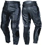 Australian Bikers Gear Motocicleta de Cuero Mens CE ArmouredRace Jeans con Deslizadores Cintura...