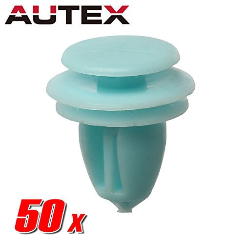AUTEX 50pcs Door Trim Panel Lining Fastener Rivet Push Clips Retainer Nut Replacement for Honda Accord Crosstour Civic CR-V Element Odyssey Pilot Ridgeline Replacement for Acura ILX Hybrid RDX RL