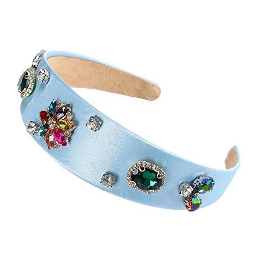 Turbantes Headband Diademas para Mujer Turbantes Diadema De Cristal Floral Exagerada A La Moda, Diadema Retro, Nuevo EST