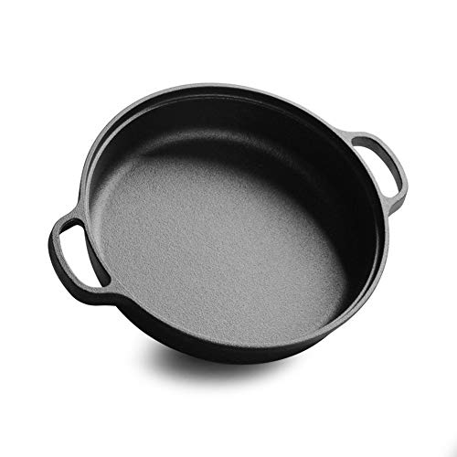 BEIHG Pre-Seasoned Cast Iron Grill Skillet Pancast Iron Skillet 9-inch Masterclass Cookware for Barbecue Stove Oven or Camping