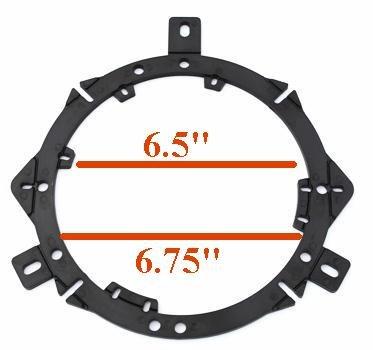 "Custom Install Parts 6.5"" inch & 6.75"" inch Aftermarket Front Door Factory Stock Speaker Adapter Pair"