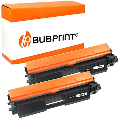 2 Bubprint XXL Cartucho Tóner Compatible para HP CF217X CF217A CF 217 X 17A 17X para Laserjet Pro M102 M102A M102W M130 M130A M130NW M130FW M130FN Negro 6,000 páginas