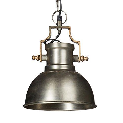 Relaxdays Hängeleuchte Industrie matt klein HBT ca. 130 x 21 x 21cm Hängelampe mit glockenförmigen Lampenschirm im Industriestil Pendelleuchte aus Metall Pendellampe E27 bis 40W, anthrazit