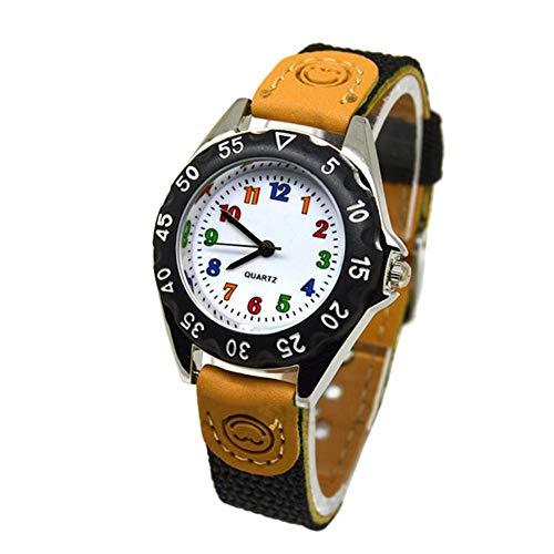Gelentea Kids Horloges, Leuke Jongens Meisjes Quartz Horloge Kinderen Stof Strap Student Tijd Klok Horloge Geschenken