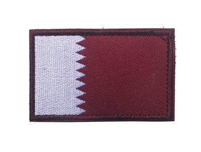 ShowPlus Qatar QA Flag Military Embroidered Tactical Patch Morale Shoulder Applique